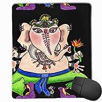 ガネーシャガネーシャ黒大規模マウスパッドノンスリップラバーバッキングゲーミングマウスパッドかわいい9.8 x 11.8インチ