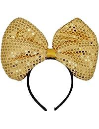DJHbuy 大人 子供 スパンコール 大きい 蝶結び 髪飾り 女の子 ヘアバンド パーティー 誕生日 おしゃれ カチューシャ