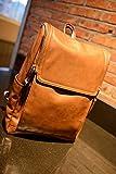 高級 本革 リュックサック 2色 バッグ バック バックパック メンズ レディース レザー 皮 鞄 通勤 通学 軽量 大容量 ブラウン