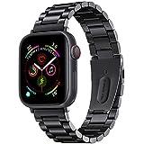 Apple Watch バンド 42mm 44mm アップルウォッチ バンド ステンレス 金属 ベルト ビジネス Apple Watch Series 1 2 3 4に対応 交換バンド(42 / 44 mm, ブラック)