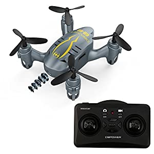 DBPOWER ミニドローン カメラ付き モード自由転換 三段階スピード調整 マルチコプター 3D宙返り ヘッドレスモード 国内認証済み 初心者向き