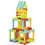 VFunix 積み木 ブロックセット カラフル知育玩具 誕生日祝いプレゼント 立体パズル 収納ケース付き