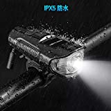 自転車ライト 自転車ヘッドライト USB充電式 ロードバイクライト 明るい 1200ルーメン 高輝度 IPX5防水防振 クラクションが付く 4モード点灯 小型 懐中電灯兼用 防災 登山 夜釣り 画像