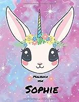 Malbuch von Sophie: Personalisiertes Malbuch / 100 Seiten / Grosser Malblock / Vornamen Malblock im Dschungel Design Kinderbuch – Namensbuch / A4