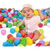 suzytoys 25個/ 50pcs / 100pcs / 200pcs /ロットカラフルなボールソフトプラスチック海洋ボール面白いベビーキッドSwim Pit Toy水プールOcean Waveボールおもちゃforキッド 1
