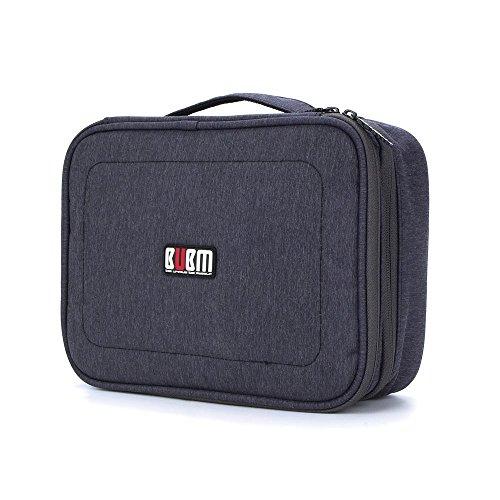 ATailorBirdDirect 旅行収納ケース PC周辺小物用収納ポーチ 整理バック 出張 キャリーオンバッグ 大容量 生活防水 軽量 スーツケース-ブルー
