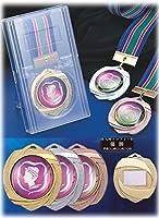 [レーザー彫刻名入れ] GOLD SHACHI 優勝メダル MR(80×70mm) 【王冠】 金