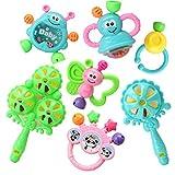 赤ちゃんのおもちゃ3-6-12ヶ月赤ちゃんのラットル教育玩具0-1歳のランダムな色