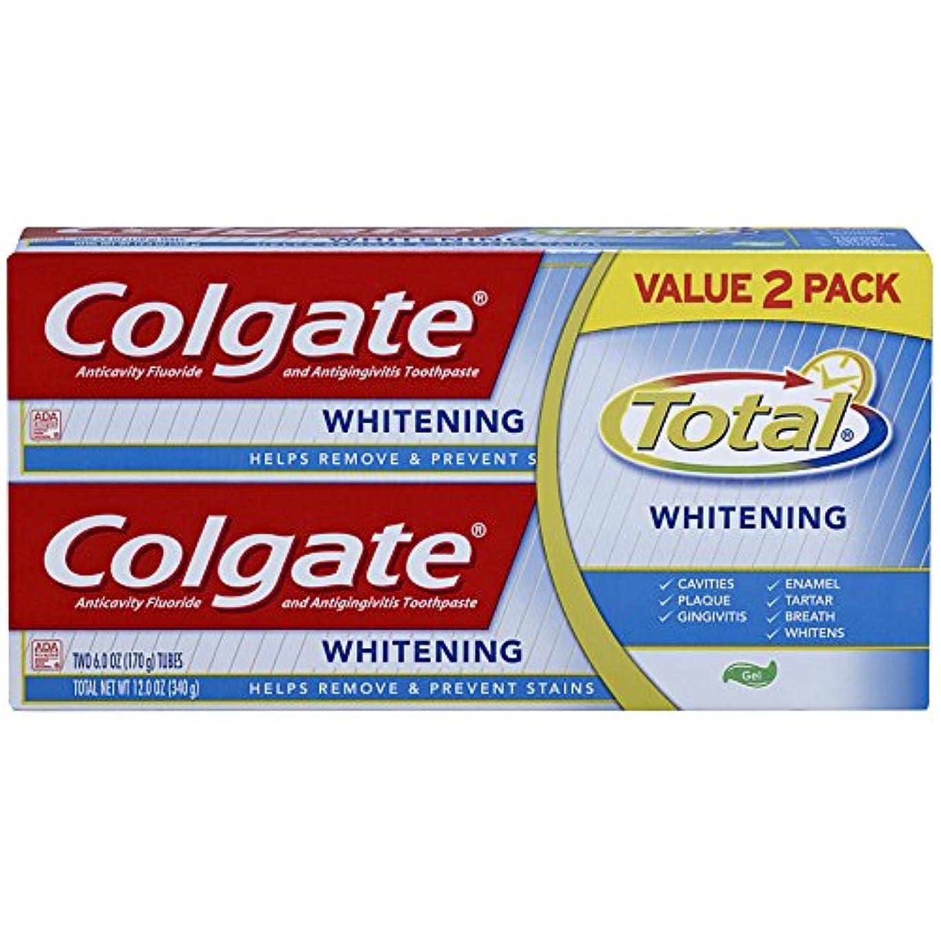 瞳誤解ゲートウェイColgate トータルホワイトニングジェル歯磨き - 12オンス(ツインパック)