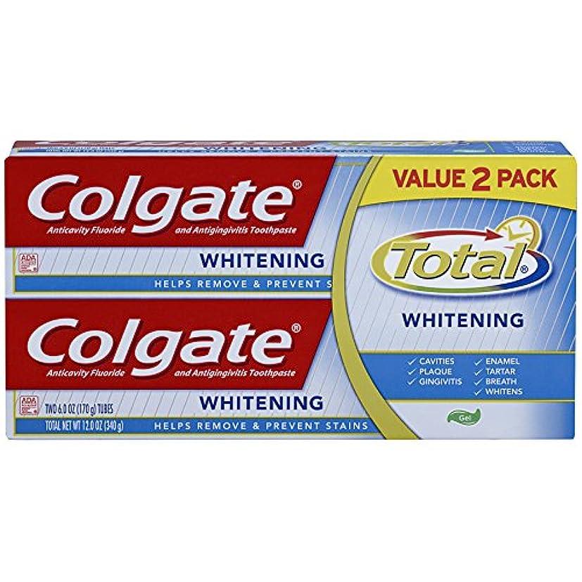 習慣放送観察Colgate トータルホワイトニングジェル歯磨き - 12オンス(ツインパック)