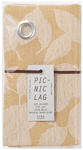 山陽製紙 レジャーシート PICNIC LAG LEAF ホワイトS 60×90cm LEAF-WT-S