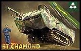 TAKOM 1/35 サン シャモン フランス軍 第一次世界大戦 重戦車 後期型 プラモデル