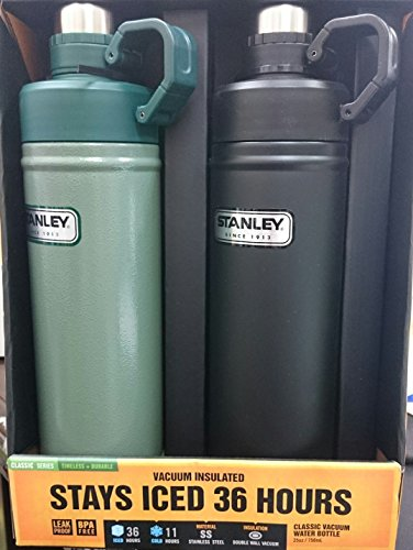 STANLEY スタンレー ウォーターボトル 750ml ブラック&グリーン 2個セット