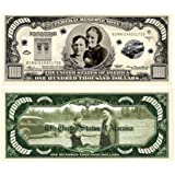 Bonnie & Clyde $100,000.00 Bill With Bill Protector by American Art Classics
