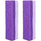 SUPVOX 2pcs Foot Stone Feet Exfoliator Tool Pumice Stone Block Callus Remover Scrubber Skin Cleaner (Purple)