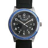 コーチ COACH 時計 メンズ 腕時計 ステンレス レザー ベルト ウォッチ 腕時計 レザーバンド アウトレット W5015 F3A 黒/青 コーチ COACH メンズ レディース