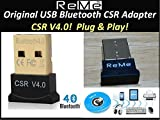 ReMe Bluetooth USBアダプター Ver.4.0+EDR/LE(省エネ設計)対応 Bluetoothアダプタ CSR4.0 Windows 10/8.1/8/7/XP対応 無線 通信 USB bluetoothレシーバーブルートゥース アダプター