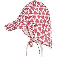 キッズ 子供用 帽子 サンハット 日よけ帽子 赤ちゃんキャップ ビーチハット 可愛い 紫外線対策 UVカット 首元防止 あごひも付 お出かけ用 (E, 6-18ヶ月)