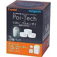 コンビ Combi 紙おむつ処理ポット 強力防臭抗菌おむつポットポイテック・においクルルンポイ 共用スペアカセット 3個パック 99%抗菌フィルム