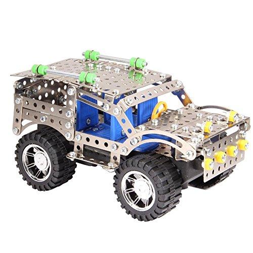 METAL MODELS SUV自動車 3D金属パズル 科学 実験 キット ブースト慣性搭載 組立て300pcsセット 6歳から 幼児 子ども キッズ おもちゃ 知育【お誕生日プレゼント】