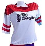 Suicide Squad スーサイド・スクワッド風 ハーレークイン 女性 ピエロ ジョーカーTシャツ コスプレ衣装 ハロウィーン(S)