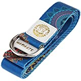 kesoto D-Ring Yoga Strap 6Ft Durable Cotton for Stretching and Flexibility - Blue, As Described