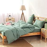 綿100%大きい綿寝具ベッド4組は、羽毛ベッド200 * 230CM / 220 * 240CM×1×2×1のLi深い枕を含むダブルキルトを設定します (サイズ さいず : 1.8M BED)