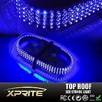 TocasR Blue Law Enforcement LED Mini Bar Strobe Light w/Magnetic Base 240 LEDs Hazard Warning [並行輸入品]