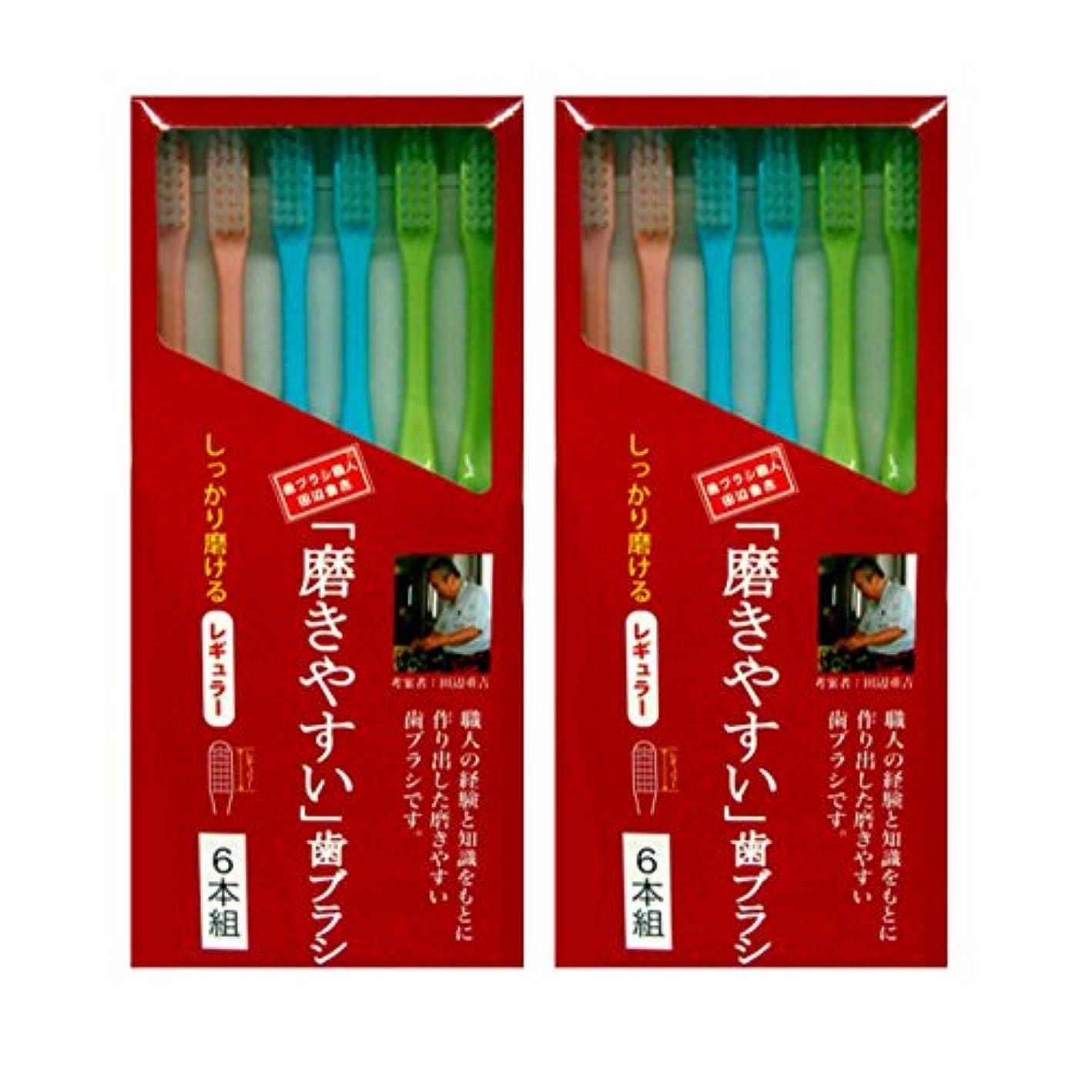 安全でない苦しめるかもしれない磨きやすい歯ブラシ レギュラータイプ 6本組×2個セット (計12本)