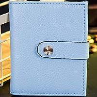 LDUNDUN-BAG, 2019 Multicolor Wallet Coin Purse Small Wallet RFID Women's Wallet Cowhide Short Women's Wallet (Color : Blue, Size : S)