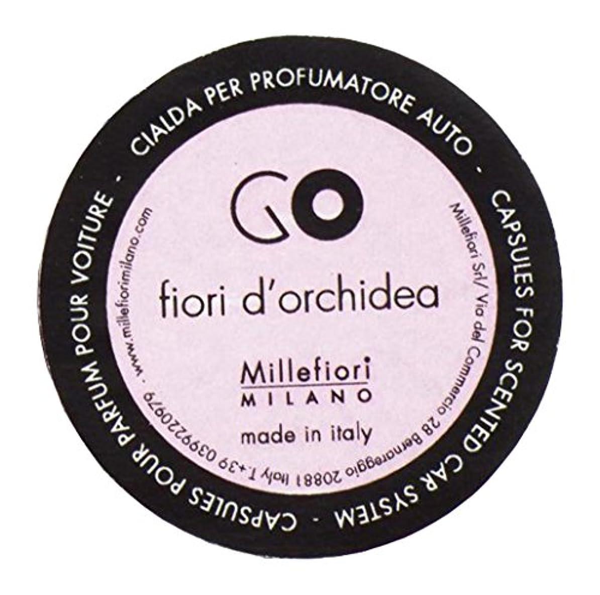 褐色一定解決Millefiori カーエアフレッシュナー GO レフィル オーキッド 1pcs RGFO