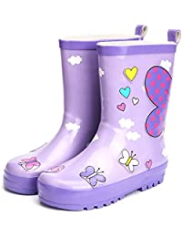 UBELLA レインブーツ キッズ ブーツ 女の子 子供用 可愛い お洒落 滑りにくい 雨の日 通学 プレゼント