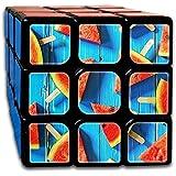 夏のスイカ スピードキューブ 3x3x3 立体パズル ポップ防止 回転スムーズ 競技用 55x55x55mm 知育玩具 脳トレ プレゼント カスタムデザイン