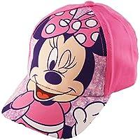 Disney Girls Minnie Mouse Bowtique Cotton Adjustable 5 Panel Baseball Cap Maternity Blouse Age 2-4 Pink
