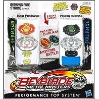 ベイブレード、金属Masters、Exclusive Burning Fire Strike Set ( Burn Fireblaze # bb-59 a and Poison Scorpio # b-110、2 - Pack