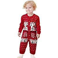 mimixiong Baby Christmas Sweater Toddler Reindeer Outfit Clothes for Boys and Girls