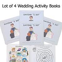 Saying I Do, A Wedding Activity Sticker Book (Lot of 4 Books) by Kid Friendly Weddings [並行輸入品]