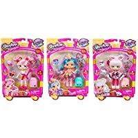 Shopkins Season 8 Limited Edition World Vacation Asia Bundle- Sara sushi, Bubbleisha & Coralee. Includes Blizy keychain