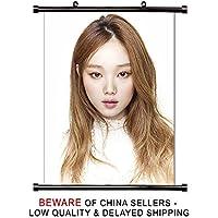 Lee sung-kyung韓国女優モデルファブリック壁スクロールポスター( 16 x 21 )インチ