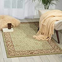 Nourison Persian Empire (PE26) Green Rectangle Area Rug 2-Feet by 2-Feet 9-Inches (2' x 2'9) [並行輸入品]