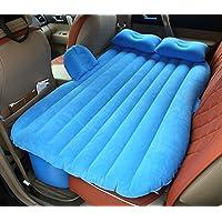 SUVエアベッド、Natood多機能インフレータブルカーマットレス後部座席クッションモーターポンプと2つの枕、ホーム、車、屋外キャンプユニバーサル、85 * 138センチメートル,Blue