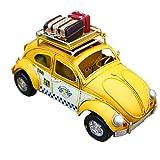 【abaroz】イエロー タクシー Yellow Taxi レトロ クラッシック ブリキ カー ビートルタイプ フォトフレーム ペンスタンド ヴィンテージ ダメージ加工