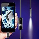 7ミリメートルレンズ、USBケーブル、ミニ剛性検査カメラ、防水内視鏡、6 LED、アンドロイド電話用