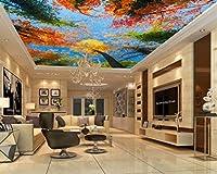 壁紙 3d 壁画 HD 秋風景大きな木空の壁画 (W)250x(H)175cm