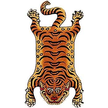 チベタンタイガーラグ ラージ DETAIL Tibetan Tiger Rug [ DTTR-02 / Lサイズ ]