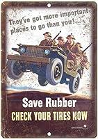 ゴムの保存タイヤの確認 金属板ブリキ看板注意サイン情報サイン金属安全サイン警告サイン表示パネル