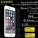 Touching PREMIUM TEMPERED GLASS SCREEN PROTECTO RRO GLASS 液晶保護フィルム 超薄型0.2mm (液晶面ガラスフィルム1枚 背面保護TPUフィルム1枚) (iPhone 6 Plus)