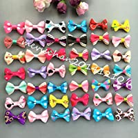 FidgetGear Dog Grooming Assorted colorful Hairpins Pet bow Hair Clips Puppy cat Hair rope 200pcs with alloy hairpins