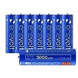 エネボルト(enevolt) 大容量 単3形充電池 3000mAh ニッケル水素充電池 自然放電軽減 繰り返し約1000回 充電 電池 8本セット