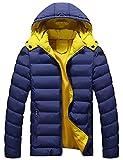 中綿ジャケット メンズ ダウンジャケット ライトダウン アウター 暖かい カジュアル 防寒 軽量 ダウンジャケット Glestore(グラストア)ブルーXXL